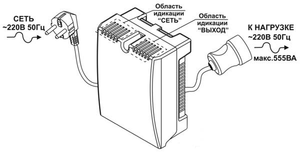 Схема подключения ST-555